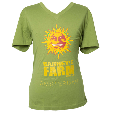 Green - V-Neck - T-shirt