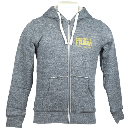 Barneys Farm Zipped Hoodie. Wool Term Lining