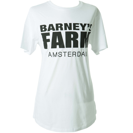 Barneys Farm Long Tee Black on White