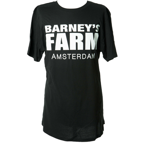 Barneys Farm Long Tee White on Black